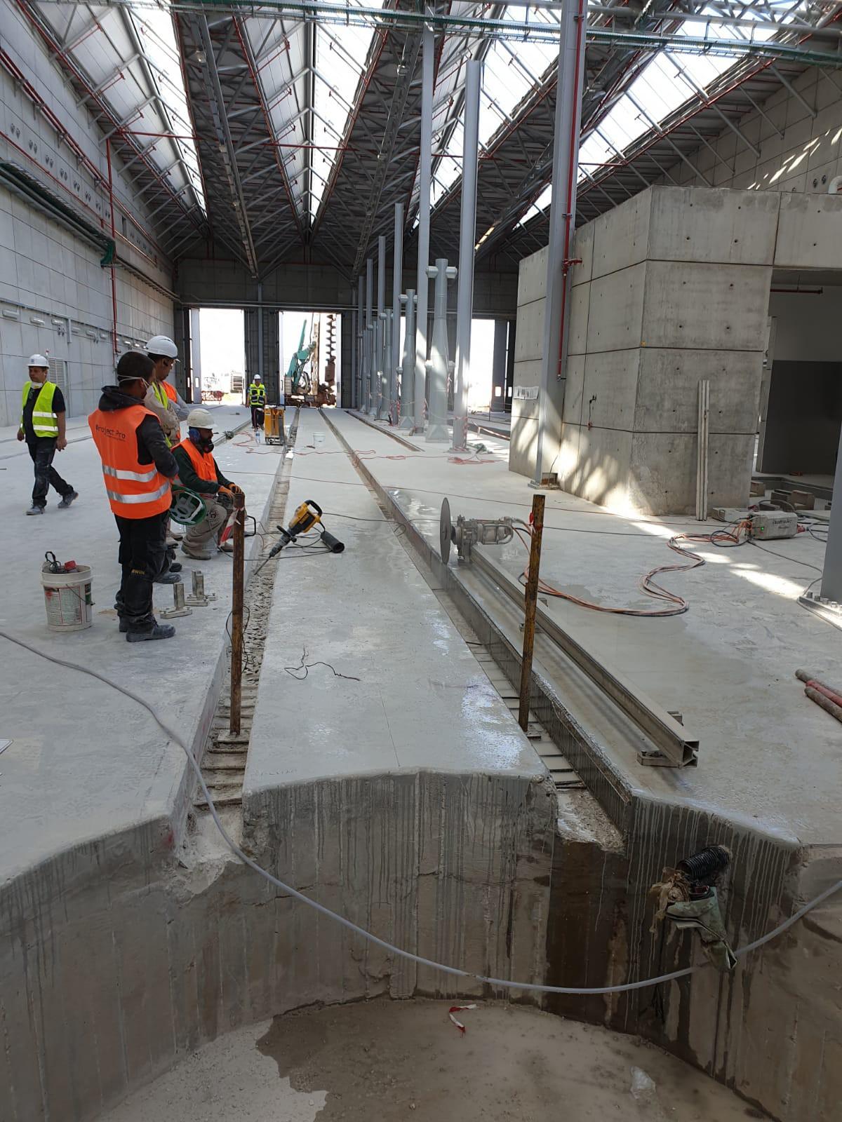 אמצעי זהירות בעת ניסור בטון